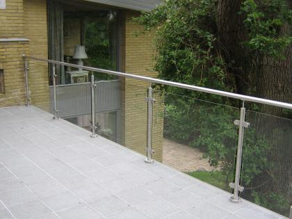 Terrasse glas læhegn,læskærm,gelænder,glas læhegn,staal og glas ...
