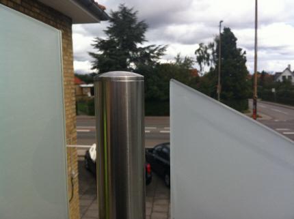 Altan glas,terrasse glas,matteret glas,lamineret glas rækværk ...