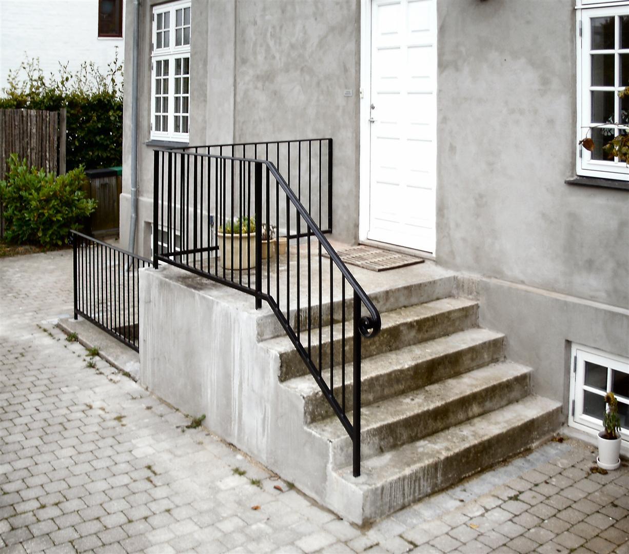 Gelænder trappe udendørs