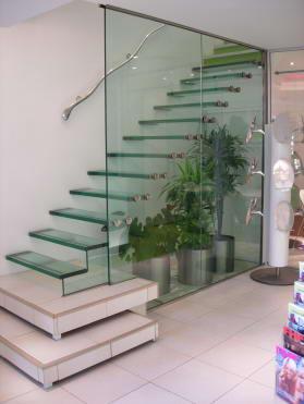 Glas gelænder trappe