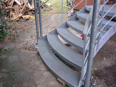 løse trappetrin i metal