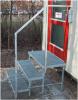 Pris billigt gelænder / rækværk i galvaniseret stål:.......3-trin trappe, galvaniseret med fastboltet gelænder, trinbredde / højde efter opgave