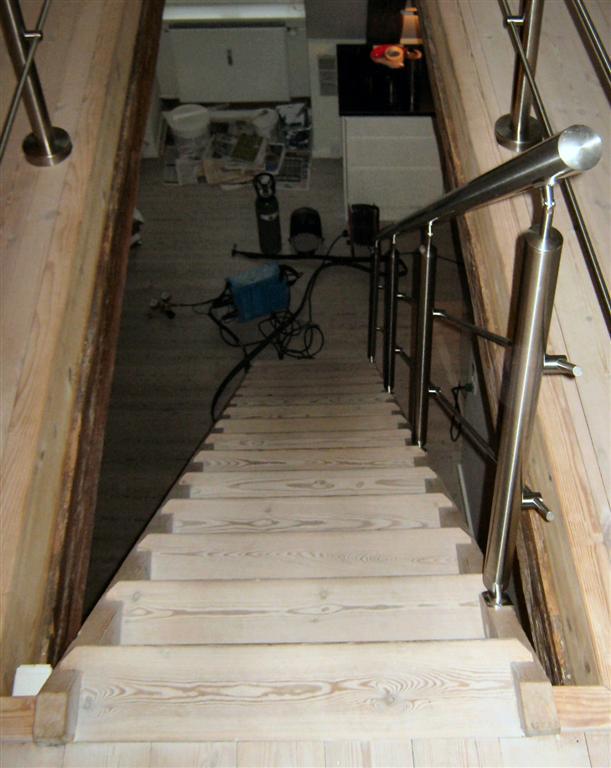 trappe-gelænder rækværk og håndliste i rustfrit stål