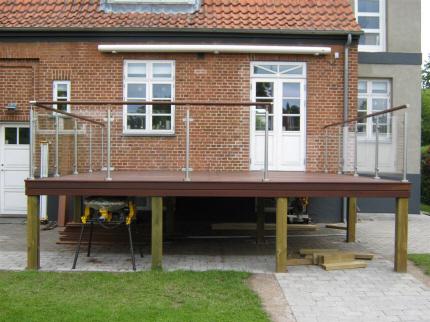 RÆKVÆRK:terrasse,Gelænder i rustfrit stål og glas til terrasse,RÆKVÆRK PRIS,SALG,TILBUD ...