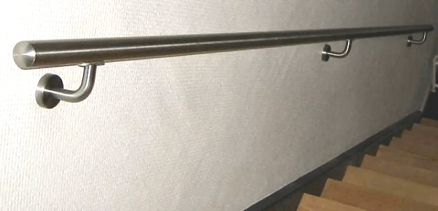 CROSINOX Gelænder, Håndlister af rustfrit stål: UDENDØRS / INDENDØRS, Kan nu bestilles ONline på ønsket mål. Klar til montering ! indtast længde og se pris !