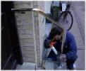 UDENDØRS  Gelændere / Håndlister udføres efter opgave, her gelænder, håndliste i messing.