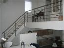 Crosinox Indendørs, trappegelænder Glas rækværk: Ballustre,håndliste i rustfrit stål,Værn af rustfri stål stænger / lamineret sikkerhedsglas.